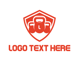 Trainer - Kettle Bell Shield logo design