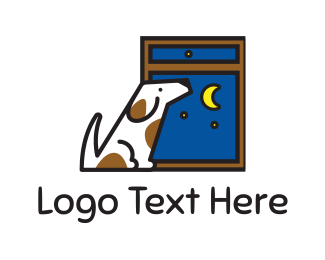 Pet Sitting - Night Dog logo design