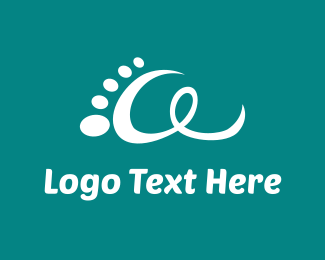 White - White Footprint logo design