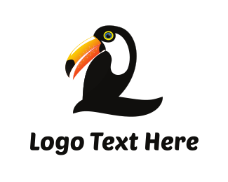 Number - Toucan Number 2 logo design