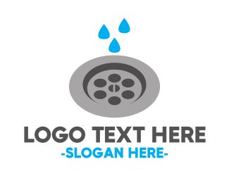 Sink - Plumbing & Drain logo design