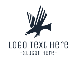 Veteran - Modern Black Eagle logo design