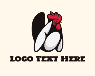 Farm - White Rooster logo design