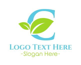 Letter C - Eco Letter C logo design