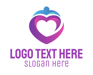 Purple And Pink - Purple Heart logo design