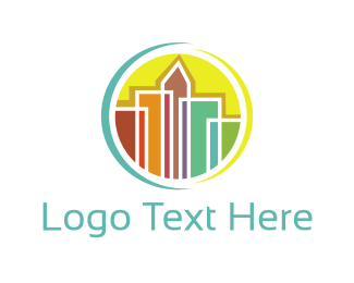 Seattle - Colorful Skyline logo design