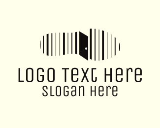 Barcode - Step & Door logo design