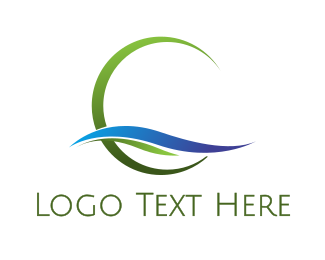 Nature - Natural Circle logo design