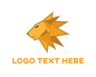 Lead - Lion Triangle Mane logo design
