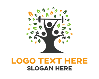 Fit - Fitness Tree logo design