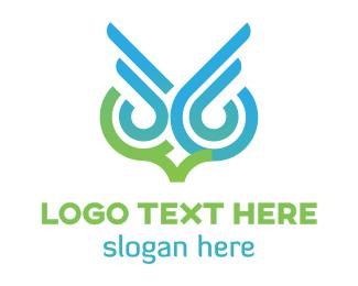 Owl - Owl Outline  logo design