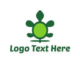 Flying - Green Flying Turtle logo design