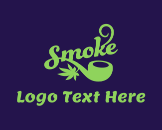 Smoke - Smoke Weed Pipe logo design