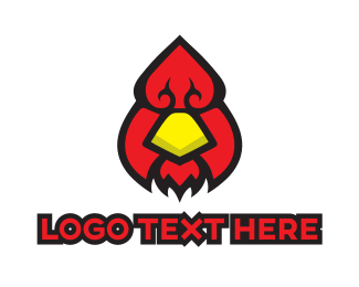 Fowl - Poker & Bird logo design