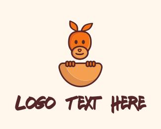 Kangaroo - Baby Kangaroo logo design