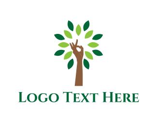 Arm - Yoga Tree logo design