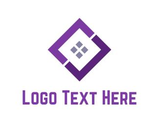 Startup - Purple Window logo design