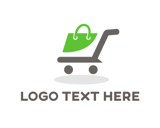 Shop - Shopping Cart  logo design