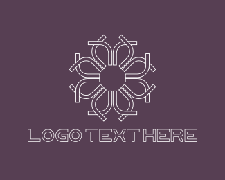 White - White Flower logo design