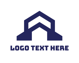 Land - Church House Outline  logo design