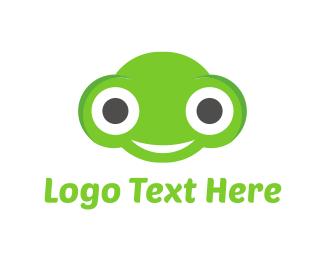 Smiling - Happy Frog logo design