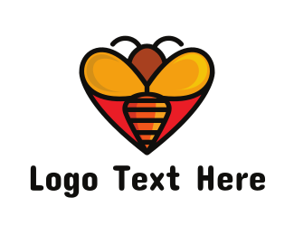Nectar - Bee Love logo design