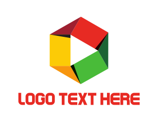 Media Player - Hexagonal Media logo design