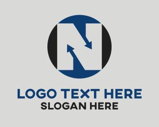 Lettering - Letter N logo design