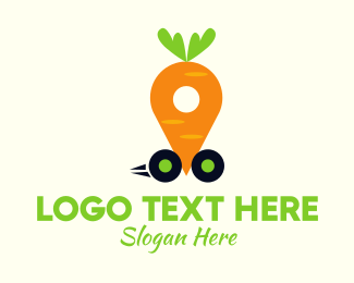 Veggie - Carrot Car logo design