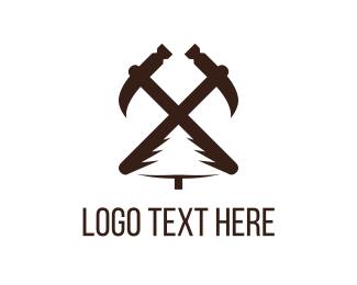 Hammer - Carpentry Tools logo design