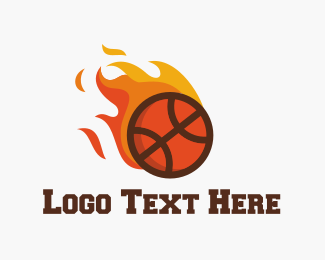 Recreation - Fire Basketball logo design