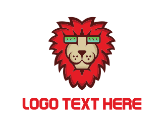 Rock - Red Lion logo design