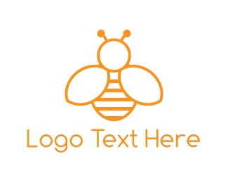 Insect - Minimalist Bee logo design