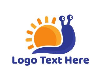 Worm - Sun Snail logo design