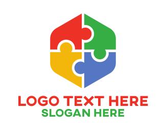 Puzzle - Puzzle Hexagon  logo design