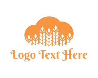 Fiber - Wheat Cloud logo design