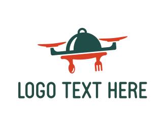 Caterer - Drone Food logo design