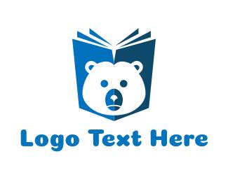 Fairy Tale - Bear Book logo design
