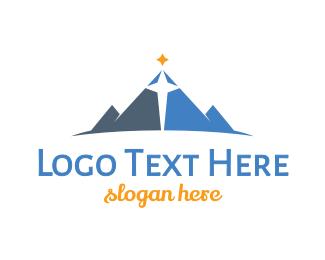 Christmas - Blue Mountain Star logo design