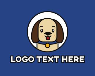 Dog Walker - Cute Puppy  logo design