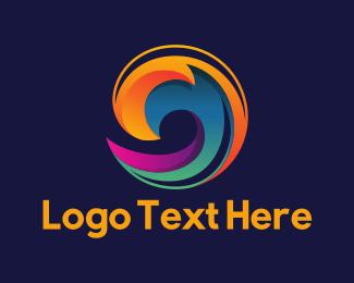 Portal - Colorful Wave logo design