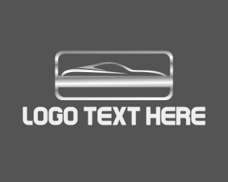 Racing - Silver Car logo design