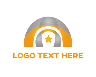 Temple - Arch & Star logo design