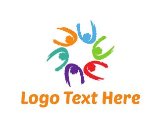 Crowd - Colorful Team logo design