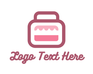 Briefcase - Pink Bag Stall logo design