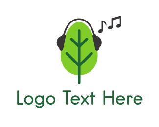 Headset - Musical Tree logo design