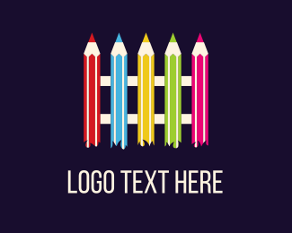 Color Pencil - Pencil Fence logo design