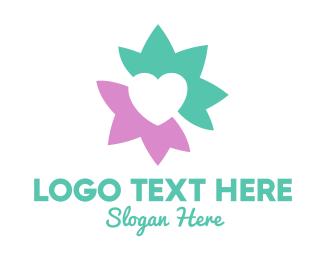 Romantic - Lotus Heart logo design