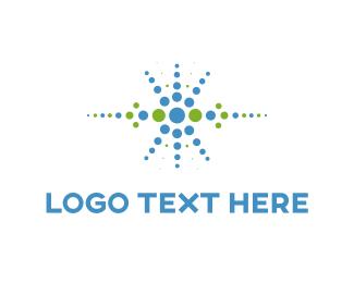 Mobile - Blue Dots logo design