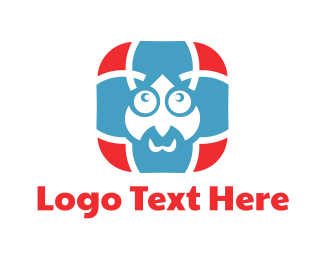 Hindi - Blue Man Cartoon logo design